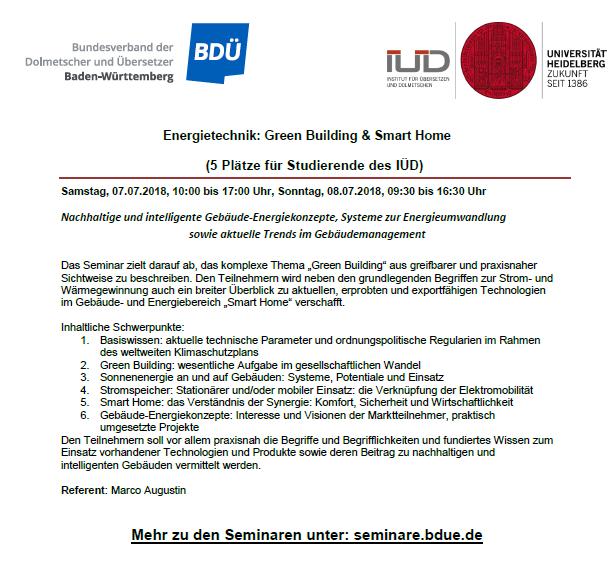BDÜ-Seminare 3